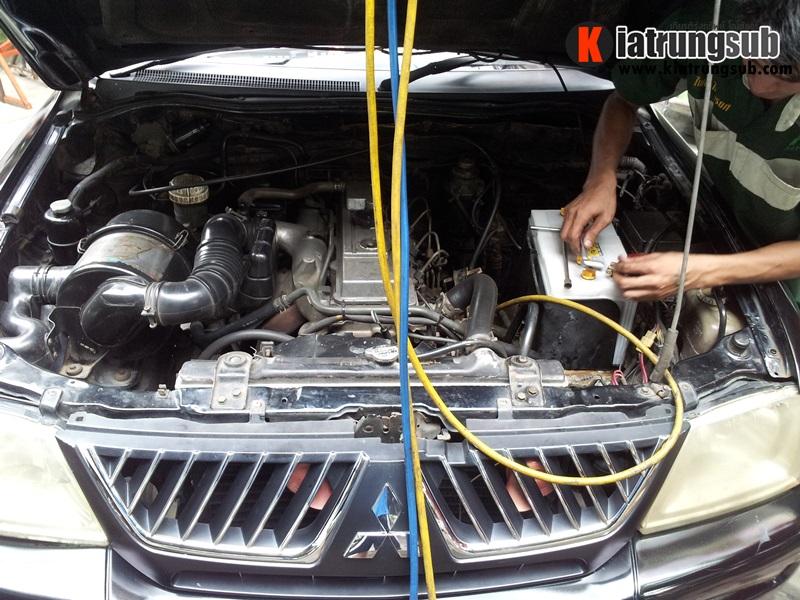 เปลี่ยนแบตเตอรี่รถยนต์ mitsubishi - Amaron Battery